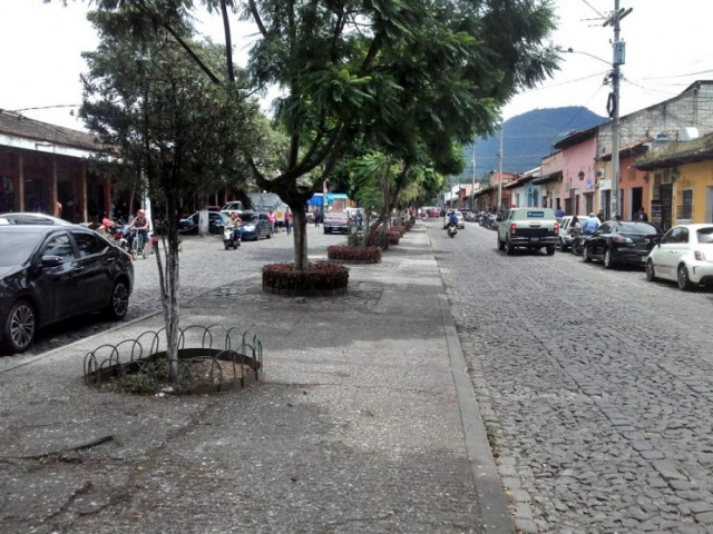All streets in the historic center are cobblestone