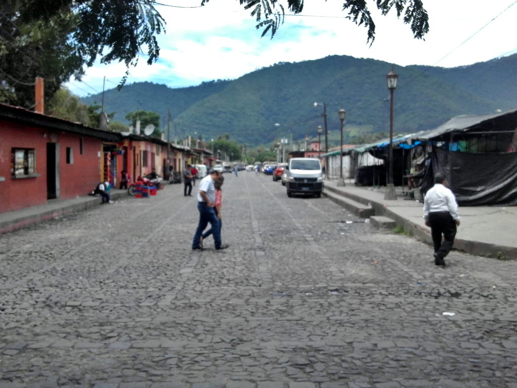 Cobblestone streets play an important role in Antigua's colonial ambiance